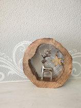 Ring Holz mit Rentier