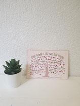 """Postkarte """" Eine Familie ist wie ein Baum """""""
