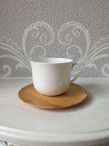 Porzellan Tasse mit Bambus Teller