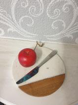 Küchenbrett Marmorbrett weiss rund