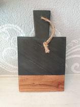Marmorn/Holzbrett hoch schwarz