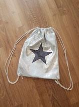 Rucksack silber mit Stern