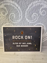 "Postkarte "" Rock on! ... """