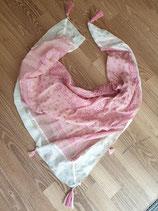 Schal rosa mit weissem Rand