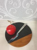 Küchenbrett Marmorbrett schwarz rund