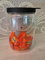 Vorratsglas mit schwarzem Deckel Storage       Bastion Collection