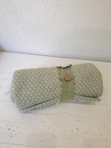 Decke dünn grün / weiss 100% Baumwolle