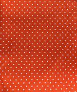Mund-Nasenbedeckung orange-weiße Punkte
