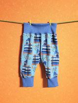 Pumphose Schlaf/blau Gr. 62/68
