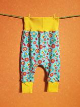 Pumphose Sommerblumen/gelb Gr. 74/80