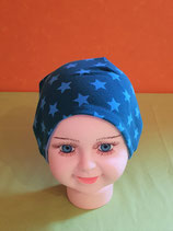 Beanie short Sterne-blau/hellblau KU 43/45