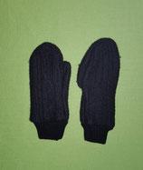 Handschuhe Strick schwarz/schwarz Gr. 1