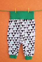 Pumphose Dreieck/grün Gr. 62/68