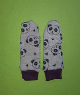 Handschuhe Panda/lila lang Gr. 0