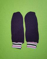 Handschuhe Strick lila/gestreift lang Gr. 1