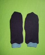 Handschuhe Strick lila/blau-gestreift lang Gr. 3