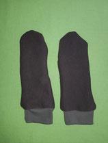 Handschuhe braun/hellbraun lang Gr. 2