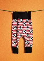 Pumphose Fußball rot/schwarz Gr. 74/80