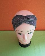 Stirnband dunkelgrau melliert KU 55cm