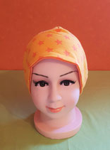 Beanie short Sterne/orange KU 52/54