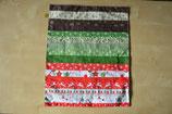 Weihnachtliches Patchwork-Deckchen rot-grün-braun