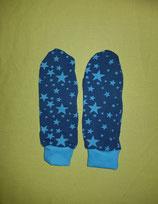 Handschuhe Sterne türkis-grün/türkis lang Gr. 3