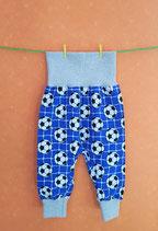 Pumphose Fußball-blau/grau Gr. 74/80