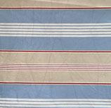 Mund-Nasenbedeckung blau-weiß-rot-grau gestreift
