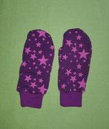 Handschuhe Sterne pink-lila/lila Gr. 1