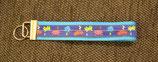 Schlüsselanhänger Pacman hellblau