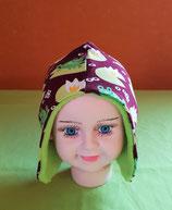 Ohrenmütze Frosch/grün KU 44/46