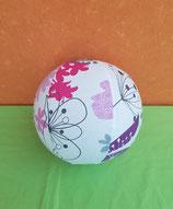 Luftballonhülle Blumen rosa/lila