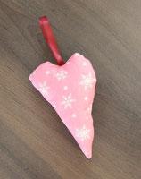 Herz rosa Flocken