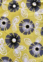 Mund-Nasenbedeckung Blumen gelb