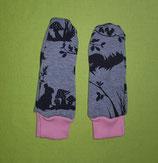 Handschuhe Waldtiere/rosa lang Gr. 0