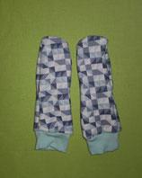 Handschuhe Dreiecke grün/pastellgrün lang Gr. 1