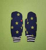 Handschuhe Sterne grün-dunkelblau/schwarz-weiß gestreift Gr. 0