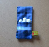 Tampontäschchen OB-Tasche blau kariert