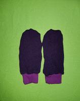 Handschuhe Strick lila/lila lang Gr. 3