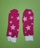 Handschuhe Sterne rosa-pink/weiß lang Gr. 1