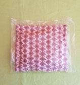 Dinkelkissen Kreis-Blume/rosa-grau mit Hülle