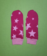Handschuhe Sterne rosa-pink/rosa lang Gr. 0
