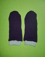 Handschuhe Strick lila/grau lang Gr. 4