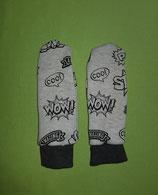 Handschuhe Cool/schwarz melliert lang Gr. 2