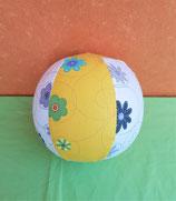 Luftballonhülle Blumen weiß/gelb