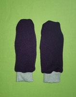 Handschuhe Strick lila/grau lang Gr. 1