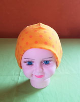 Beanie short orange-Punkte/creme KU 43/45