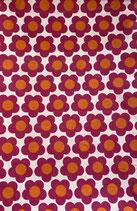 Mund-Nasenbedeckung Blumen rot-orange