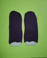 Handschuhe Strick lila/grau lang Gr. 3