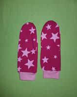 Handschuhe Sterne rosa-pink/rosa lang Gr. 3